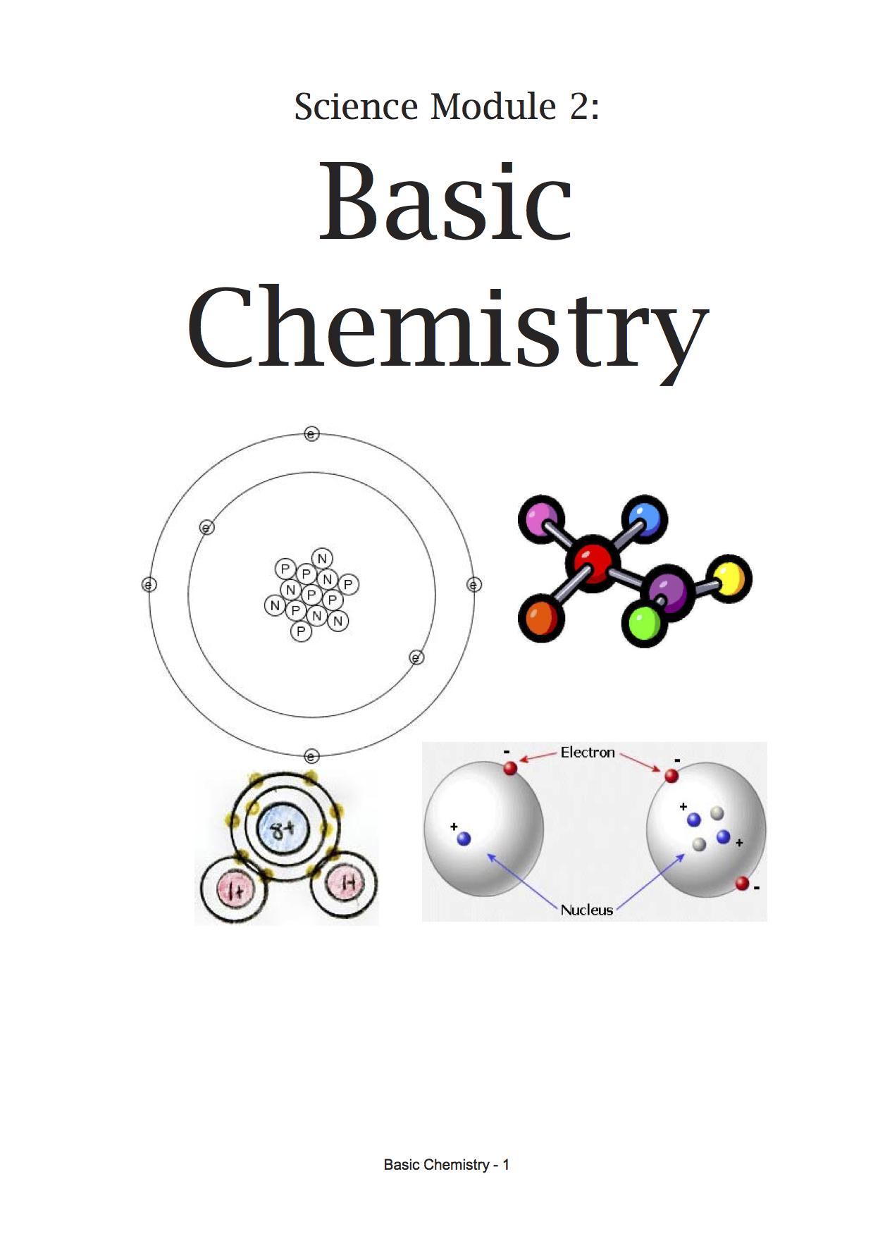 Science M2 - Basic Chemistry student's book