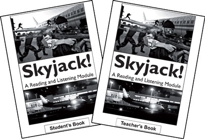 The covers for Skyjack! student's book and teacher's book.